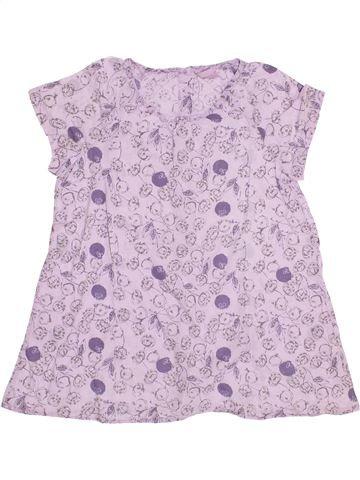 Blouse manches courtes fille LISA ROSE blanc 14 ans été #1350622_1