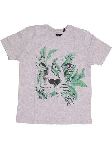 T-shirt manches courtes garçon IKKS blanc 12 ans été #1351784_1