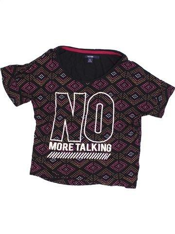 T-shirt manches courtes fille KIABI beige 10 ans été #1352050_1