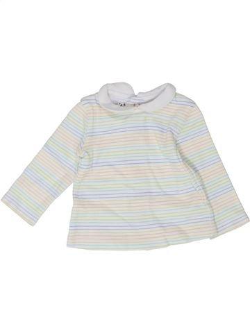 T-shirt manches longues fille PRENATAL blanc naissance hiver #1352332_1