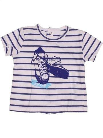 T-shirt manches courtes garçon SUCRE D'ORGE blanc 3 mois été #1352552_1