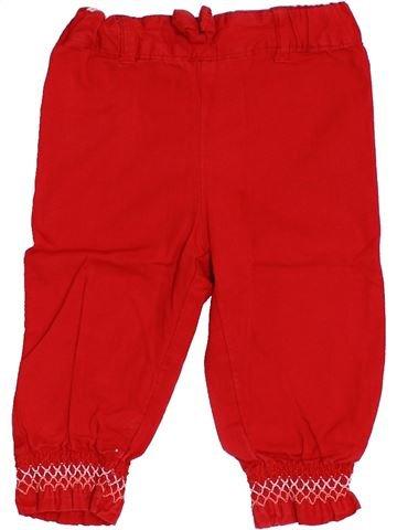 Pantalón niña BRIOCHE rojo 9 meses verano #1352753_1