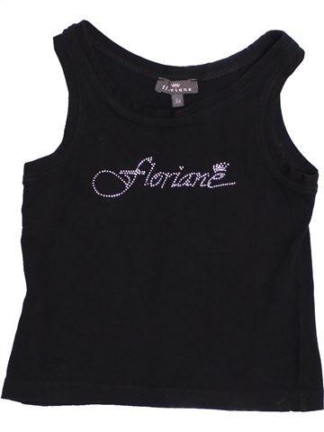 T-shirt sans manches fille FLORIANE noir 6 ans été #1352820_1