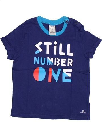 T-shirt manches courtes garçon DÉCATHLON bleu 4 ans été #1353328_1