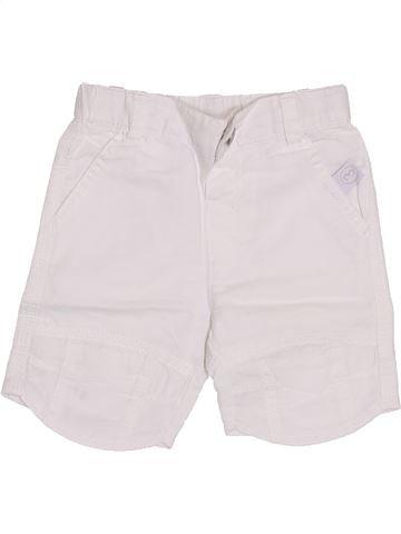Short - Bermuda garçon 3 POMMES blanc 6 mois été #1353478_1