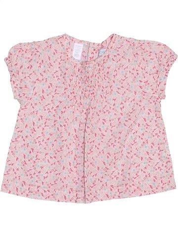 Chemise manches courtes fille OKAIDI rose 6 mois été #1353479_1