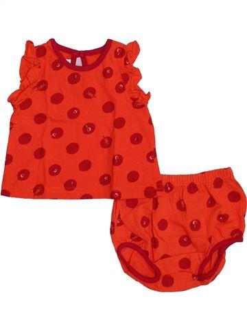 Conjunto niña PETIT BATEAU rojo 6 meses verano #1353537_1