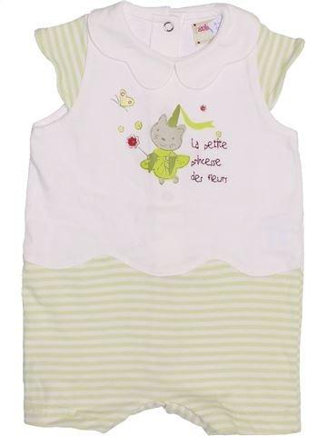 Combinación corta niña AUBISOU blanco 3 meses verano #1353593_1