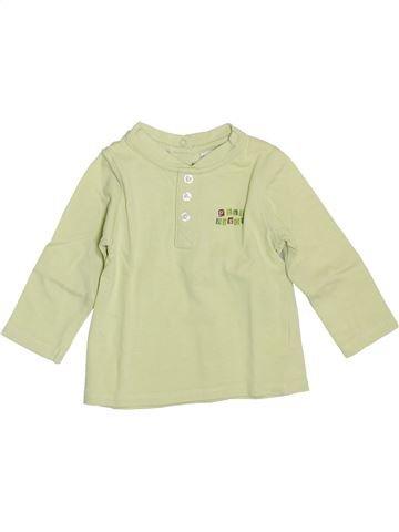 T-shirt manches longues garçon P'TIT BISOU vert 6 mois hiver #1353841_1