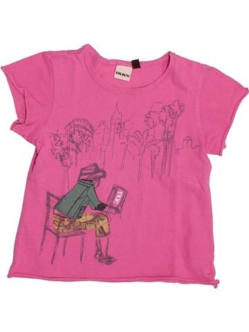 T-shirt manches courtes fille IKKS rose 2 ans été #1353962_1