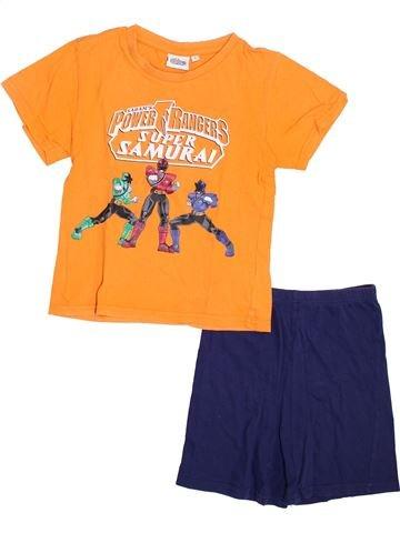 Pijama de 2 piezas niño SUPERS HÉROS naranja 5 años verano #1353987_1