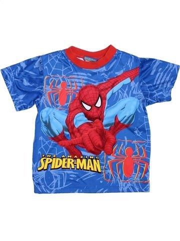 T-shirt manches courtes garçon SUPERS HÉROS bleu 3 ans été #1353988_1