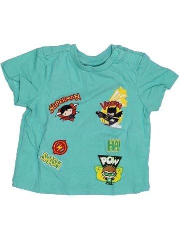 T-shirt manches courtes garçon SUPERS HÉROS bleu 3 mois été #1353996_1