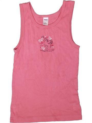 T-shirt sans manches fille YIGGA rose 10 ans été #1354601_1