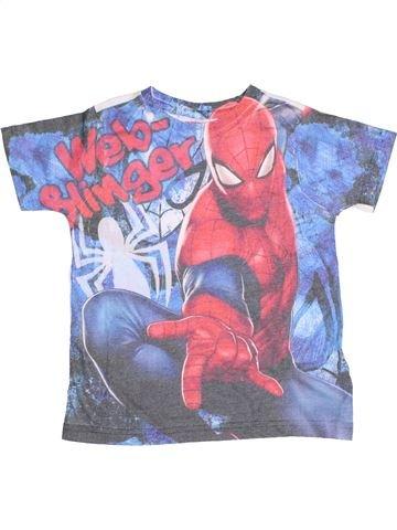 T-shirt manches courtes garçon SUPERS HÉROS bleu 5 ans été #1355059_1