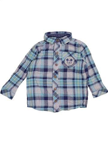 Chemise manches longues garçon GEORGE bleu 12 mois hiver #1355480_1