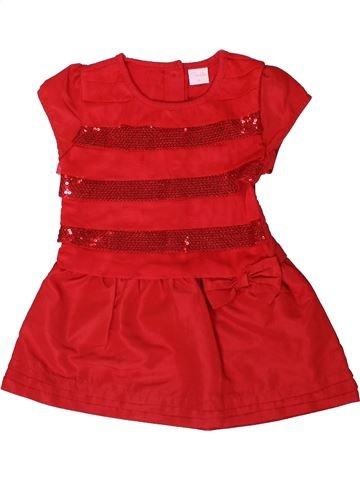 Robe fille SMILE rouge 3 ans été #1355912_1