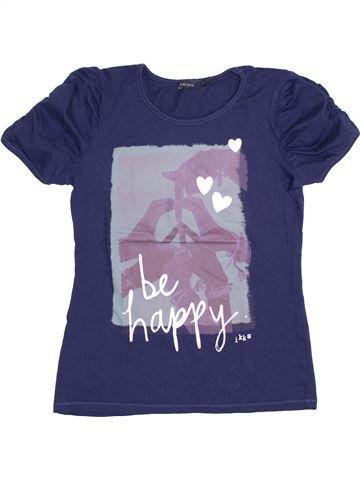 T-shirt manches courtes fille IKKS violet 12 ans été #1356124_1