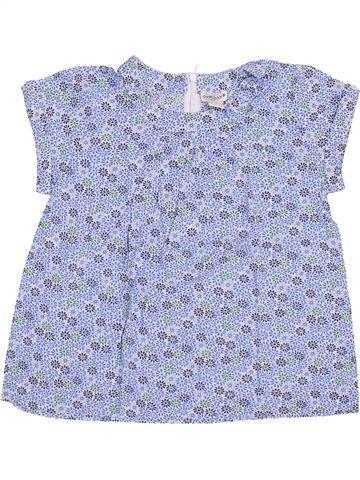 Blusa de manga corta niña CYRILLUS gris 10 años verano #1356129_1