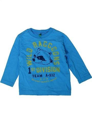 Camiseta de manga larga niño BENETTON azul 2 años invierno #1356229_1