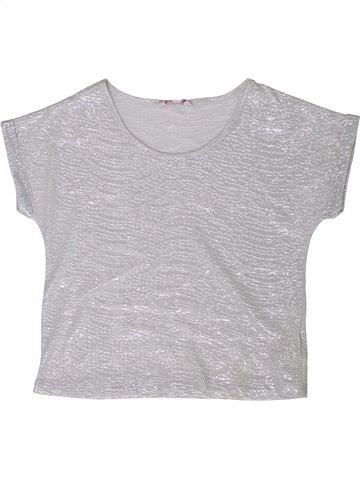 Camiseta de manga corta niña MISS E-VIE gris 9 años verano #1356398_1