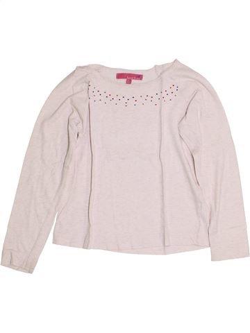 T-shirt manches longues fille LISA ROSE blanc 8 ans hiver #1356771_1
