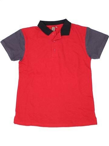 Polo manches courtes garçon URBAN 65 OUTLAWS rouge 14 ans été #1357191_1