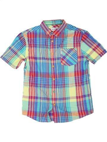 Chemise manches courtes garçon BEN SHERMAN bleu 13 ans été #1357355_1