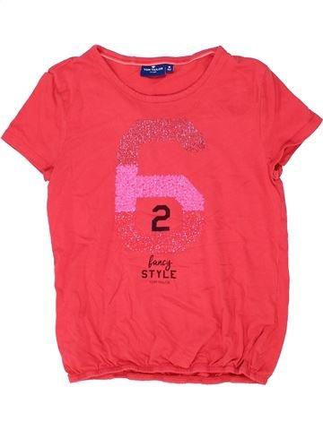 T-shirt manches courtes fille TOM TAILOR rouge 12 ans été #1357670_1