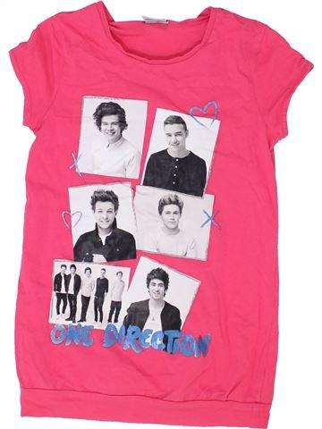 T-shirt manches courtes fille ONE DIRECTION rose 9 ans été #1358622_1