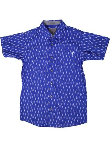 Chemise manches courtes garçon DEBENHAMS bleu 13 ans été #1359001_1