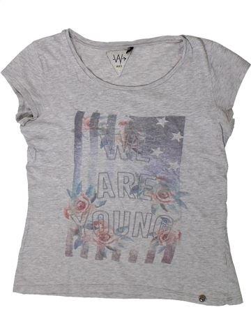 T-shirt manches courtes fille IKKS gris 12 ans été #1360523_1