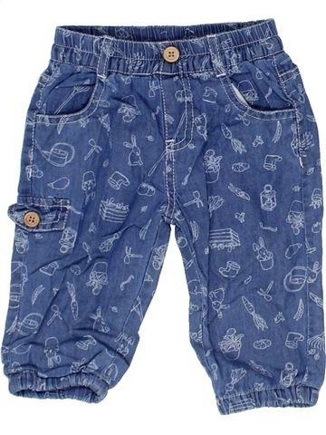 Pantalon fille MON COEUR bleu 1 mois été #1360994_1