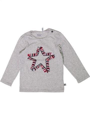 T-shirt manches longues fille IKKS gris 2 ans hiver #1361167_1