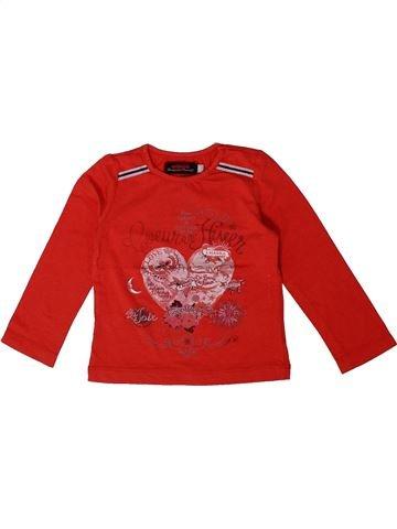 Camiseta de manga larga niña CATIMINI rojo 2 años invierno #1361224_1