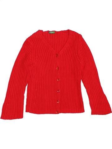 Gilet fille BENETTON rouge 4 ans hiver #1361469_1