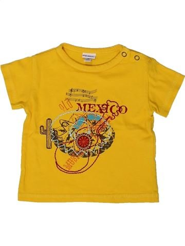 T-shirt manches courtes garçon P'TIT BISOU jaune 3 mois été #1361501_1