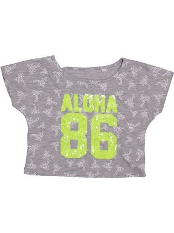 Camiseta de manga corta niña DEBENHAMS gris 6 años verano #1361609_1