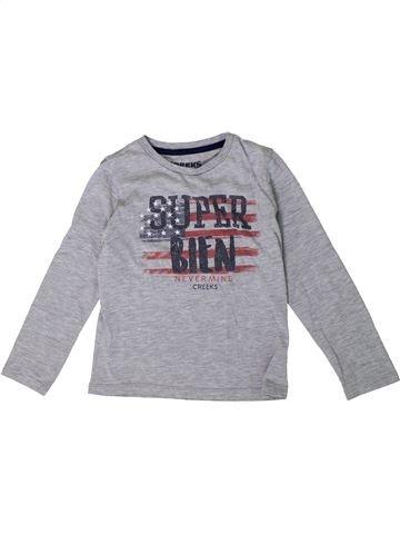 T-shirt manches longues garçon CREEKS gris 6 ans hiver #1362260_1