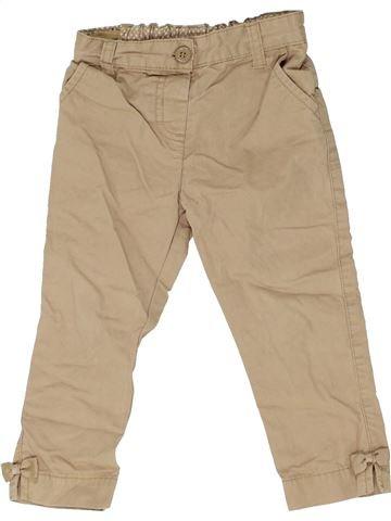 Pantalon fille SANS MARQUE beige 2 ans été #1362763_1