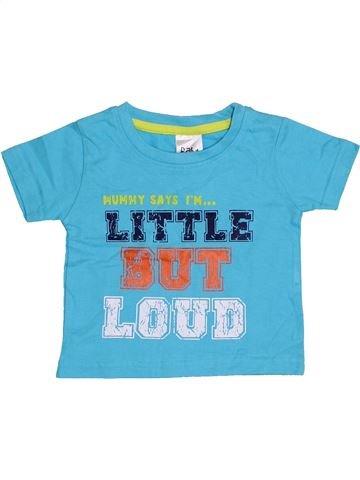 T-shirt manches courtes garçon BABY bleu 12 mois été #1363031_1