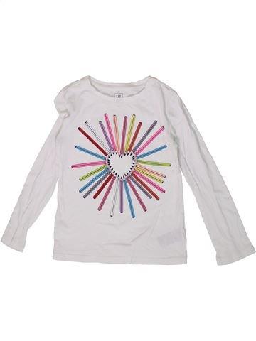 Camiseta de manga larga niña GAP blanco 5 años invierno #1363432_1