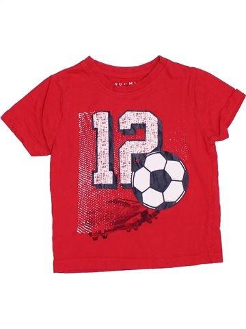 T-shirt manches courtes garçon NUTMEG rouge 2 ans été #1364222_1