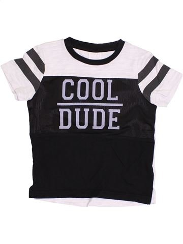 T-shirt manches courtes garçon F&F noir 4 ans été #1364976_1