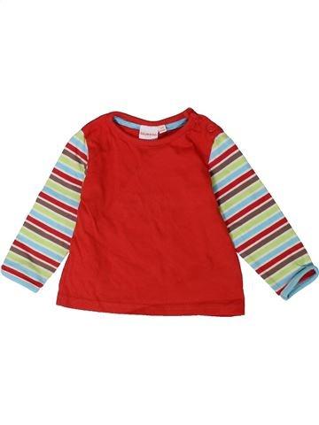 T-shirt manches longues garçon BLUEZOO rouge 6 mois hiver #1364997_1