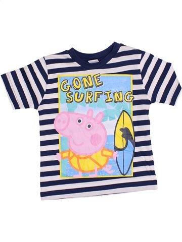 T-shirt manches courtes garçon PEPPA PIG bleu 2 ans été #1365106_1