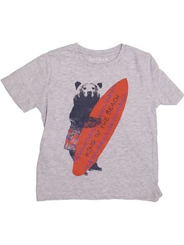 T-shirt manches courtes garçon NUTMEG blanc 7 ans été #1365110_1