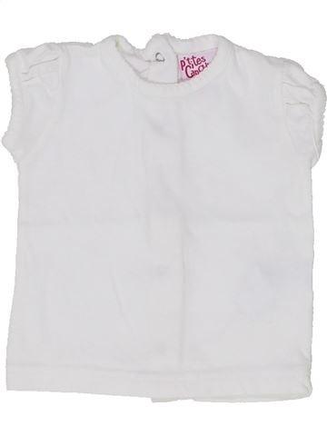 T-shirt manches courtes fille P'TITES CANAILLES blanc 3 mois été #1365196_1