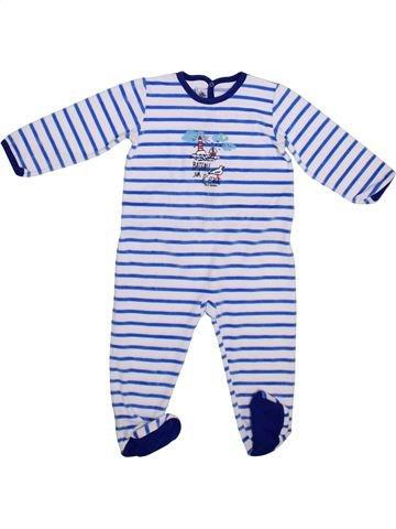 Pyjama 1 pièce garçon PETIT BATEAU bleu 2 ans hiver #1365477_1