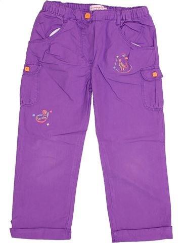 Pantalon fille LA COMPAGNIE DES PETITS violet 4 ans été #1365777_1